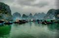 Floating fishing village, Halong Bay, Vietnam
